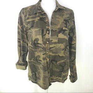 Canvas Camo Snap front Shirt